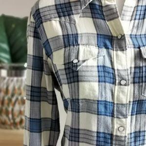 Chaps Tops - Chaps Plaid Button Down Women's Shirt NWOT Medium